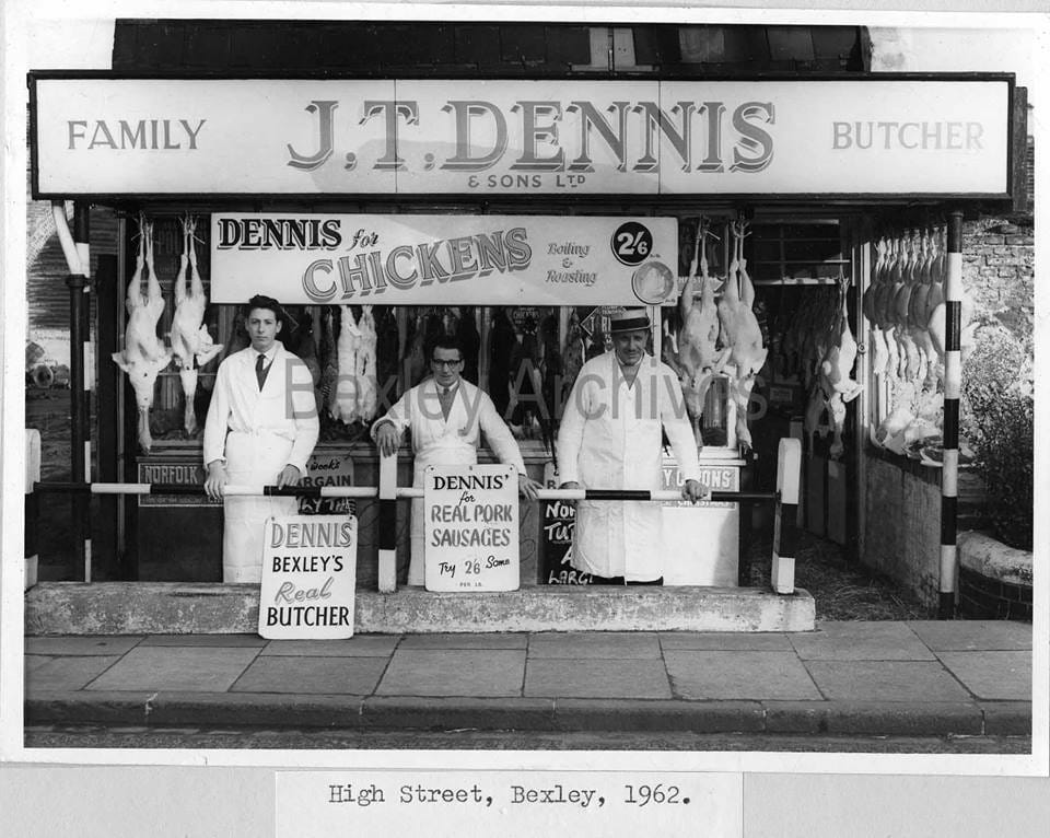 J.T Dennis Shop Front in Bexley Village 1963